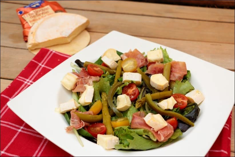 salade asperges reblochon