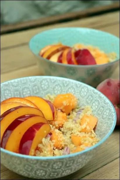 salade quinoa melon nectarine