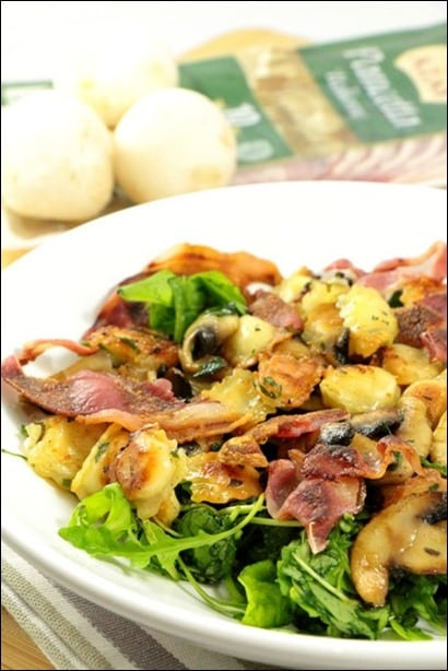 salade ravioles jambon cru