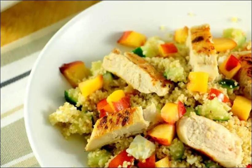salade couscous poulet feta