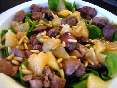 salade épinard et pamplemousse