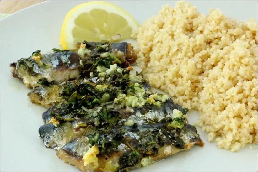 sardines à l'huile grillées
