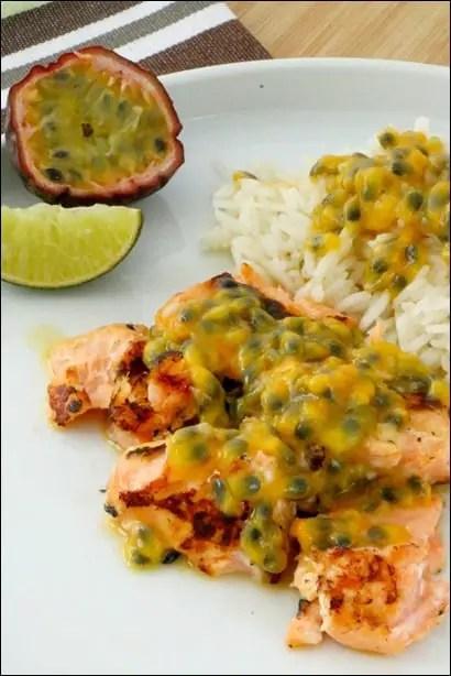 saumon fruit de la passion
