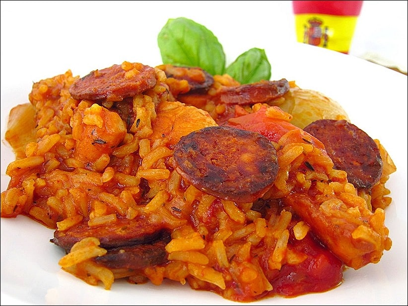 recette poulet sauce tomate chorizo riz