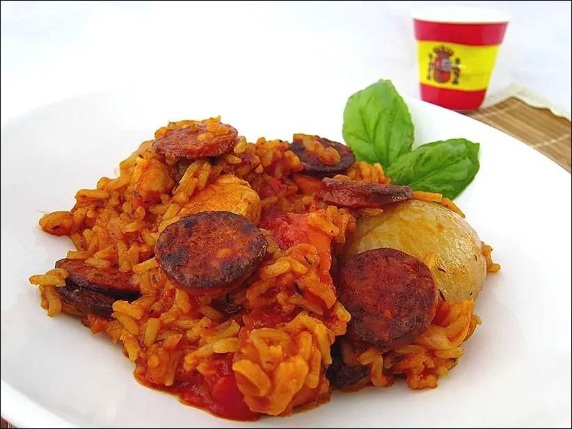 poulet sauce tomate chorizo