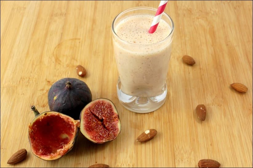 smoothie lait d'amande healthy