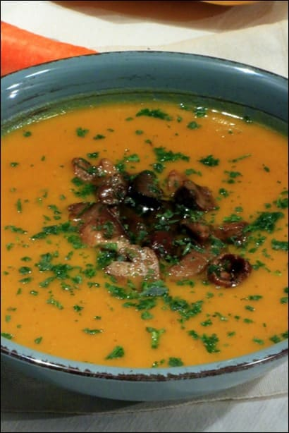 soupe courge muscade carotte