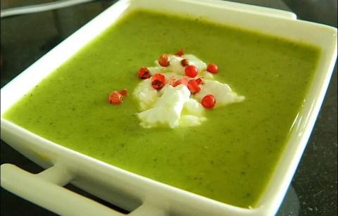 soupe froide courgette chevre frais