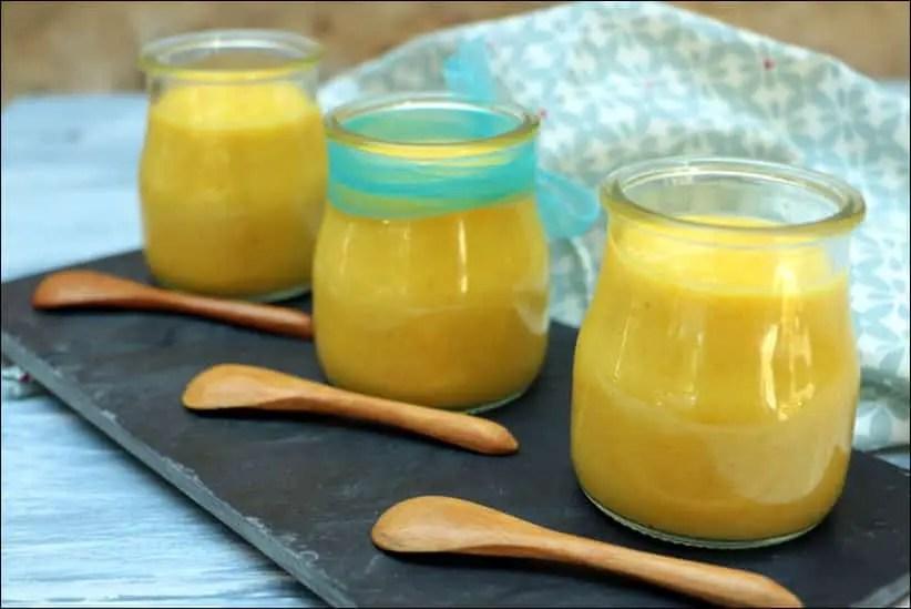 Soupe froide de courgettes jaunes au citron confit, safran et ricotta