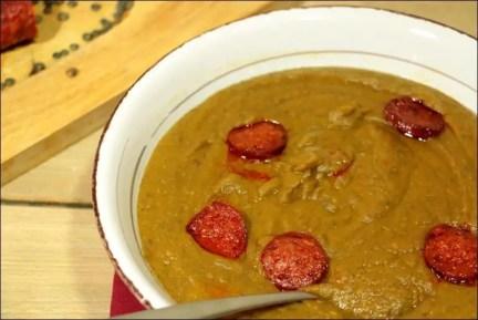 soupe lentille chorizo