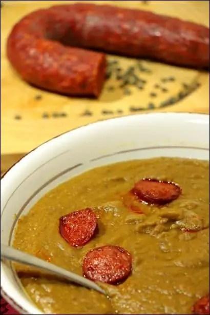 soupe lentilles vertes chorizo