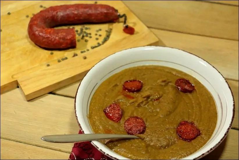 soupe lentilles pommes de terre