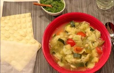 soupe de pistou aux ravioles