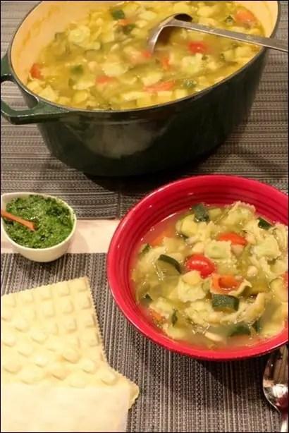 soupe pistou ravioles