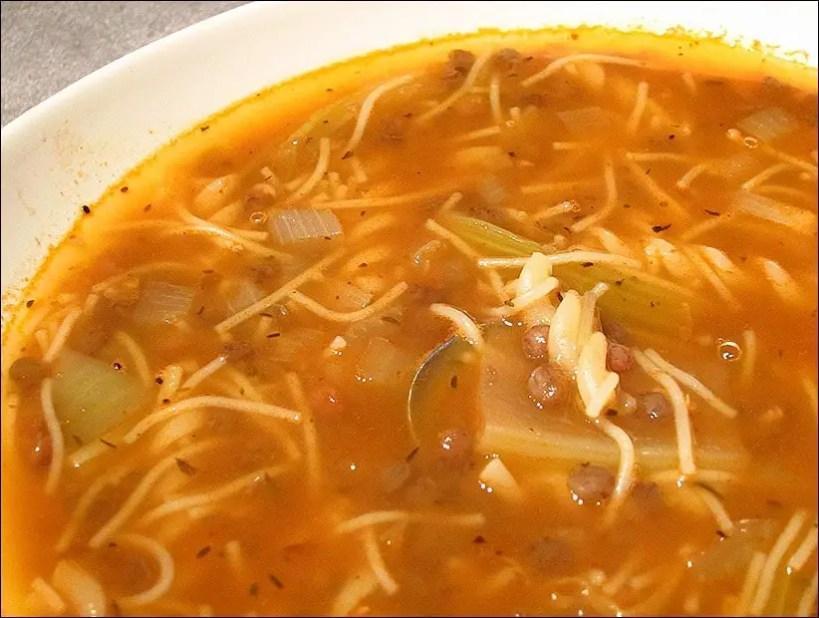 soupe lentilles vertes