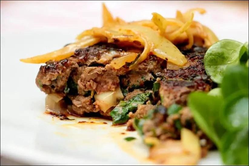 recette steak haché a l'oignon lignac