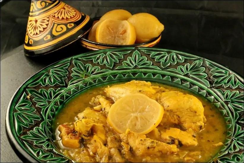 tajine poulet epices citron confit