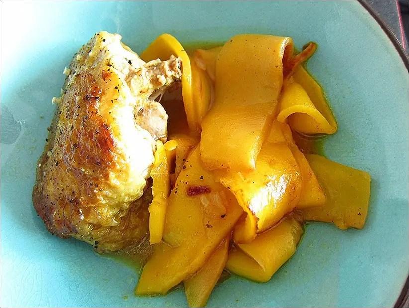 tajine poulet mangue gingembre