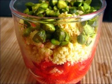tartare craquant de fraises et pistaches aux sablés bretons