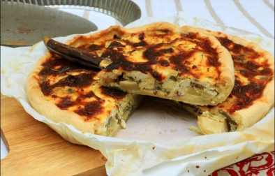 tarte aux artichauts et champignons