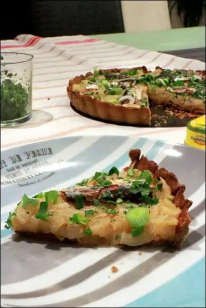 tarte oignon sardine