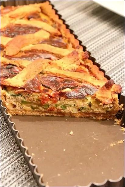 tarte courgettes ricotta tomates séchées