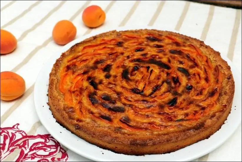 tarte moelleuse aux abricots