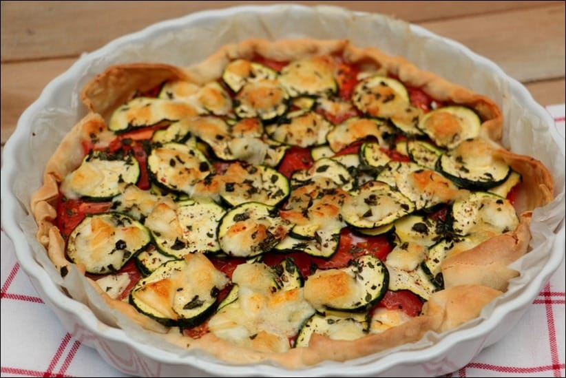 idee tarte courgette tomate