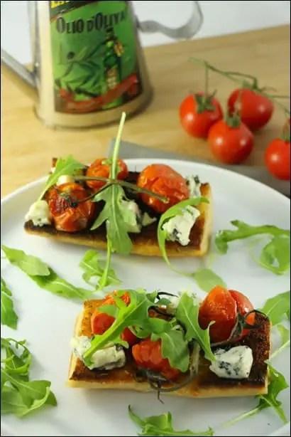 tartines tomates confites