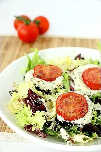 aubergine chèvre tomate