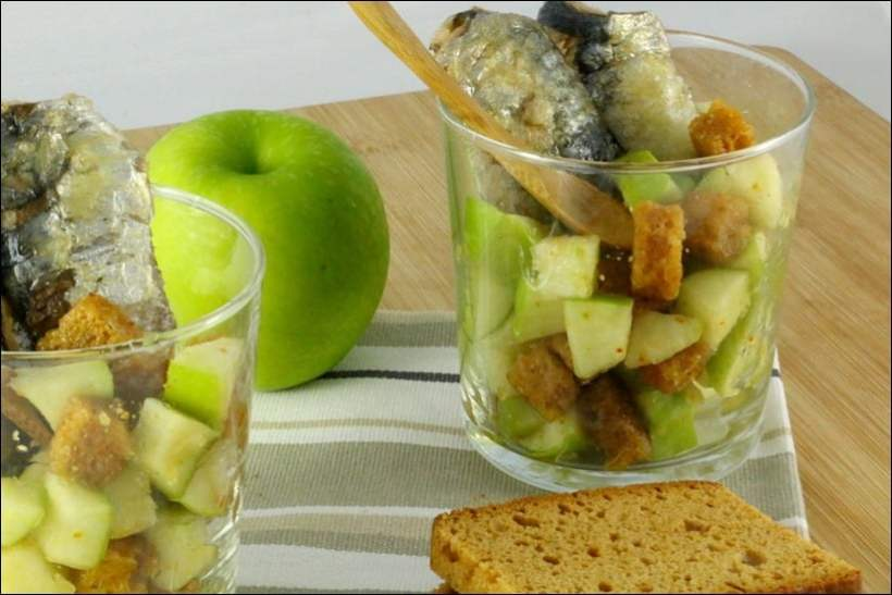 verrine sardine pomme