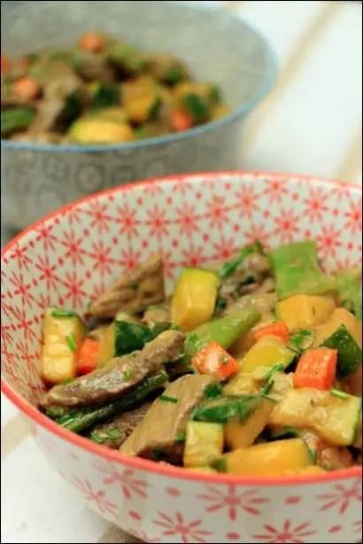 wok boeuf aux legumes