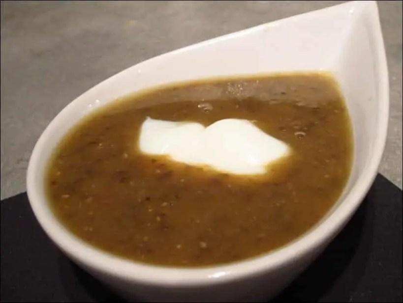 soupe lentilles roquefort
