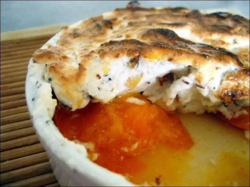 abricots meringués au muscat de rivesaltes