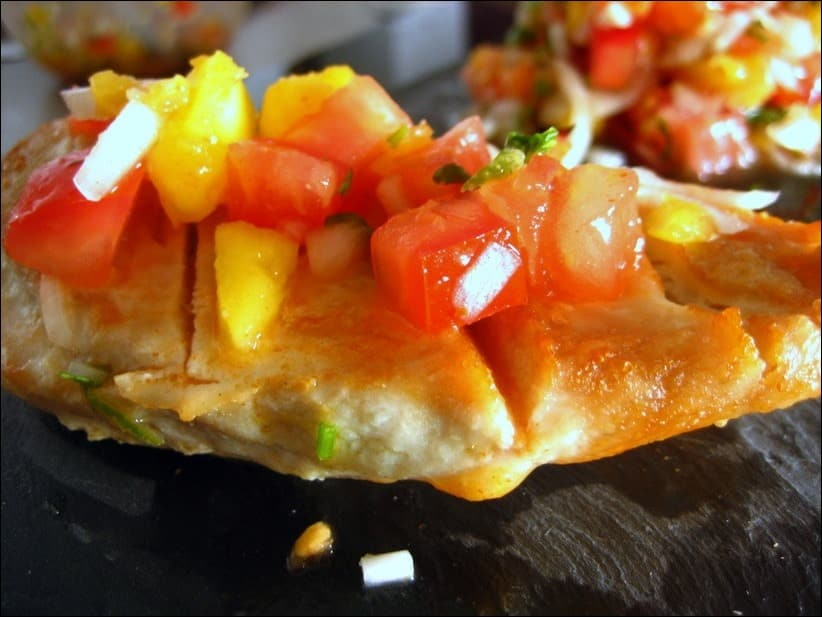 poulet grillé salsa mangue