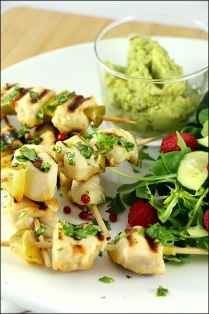 brochettes de poulet barbecue