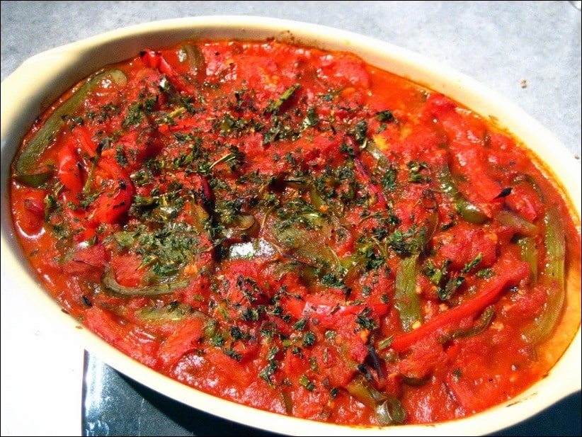 recette cabillaud tomate poivron