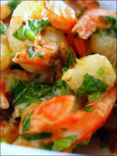 crevettes sautées au lait de coco coriandre
