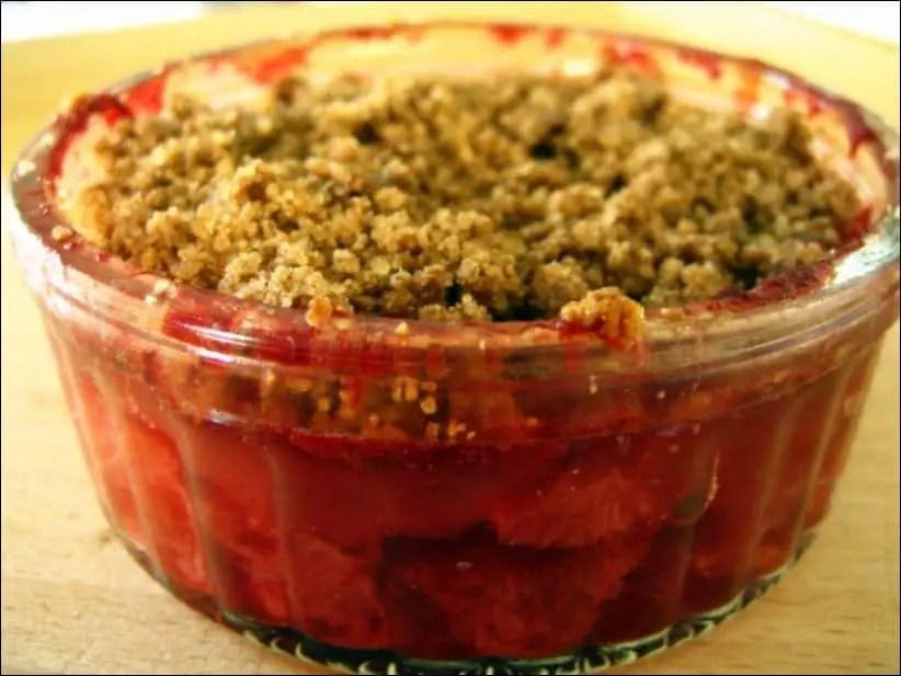 recette crumble fraise leger
