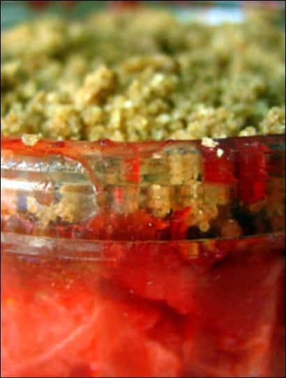 crumble fraise healthy