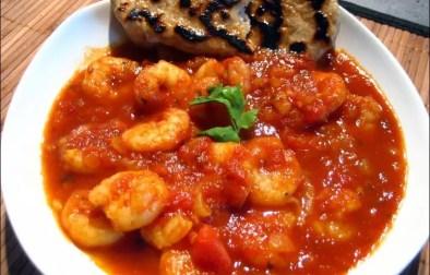 curry de crevettes et ses naans
