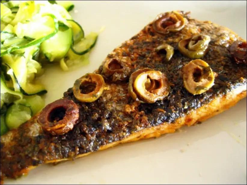 filet de merlu aux olives