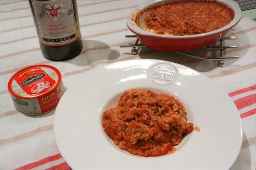 risotto au thon en boite