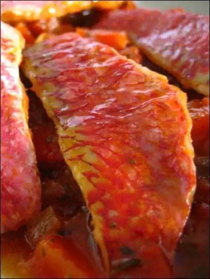 rouget poivron tomate