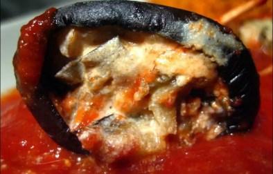 roulés d'aubergine à la ricotta