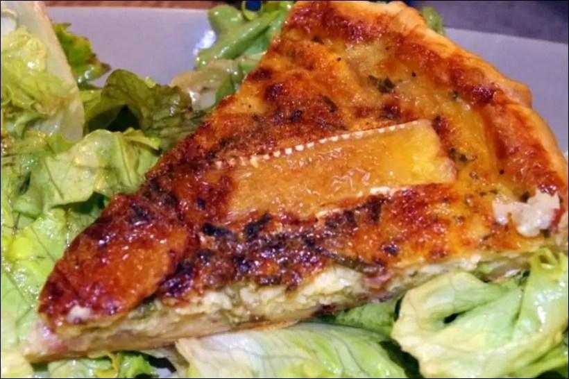 tarte camembert lardon