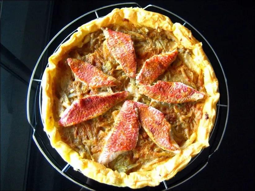 tarte aux rougets anisée et vanillée