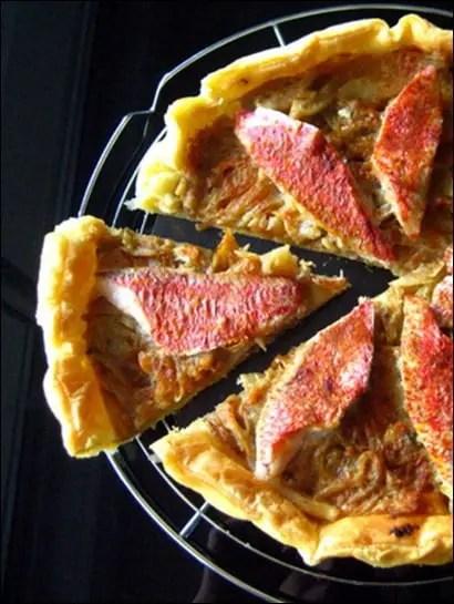 tarte fine de rouget provençale