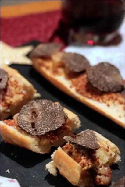recette tartine truffe noire