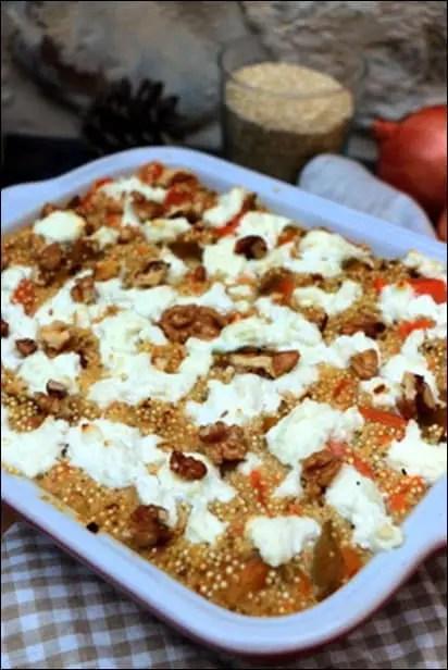 gratin quinoa patate douce